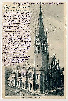 STUTTGART-CANNSTATT Lutherkirche * AK um 1900