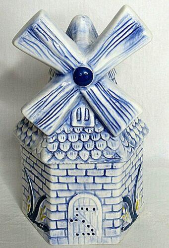 Windmill House Cookie Jar Mid Century Vintage California Originals USA Dutch