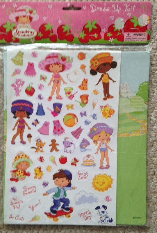 American Greeting Strawberry Shortcake Sticker Dress Up Paper Dolls Package 2004