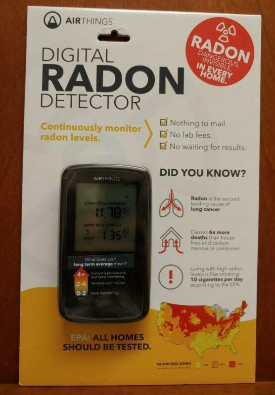W1 Corentium Home Digital Radon Detector by Airthings  Portable Lightweight