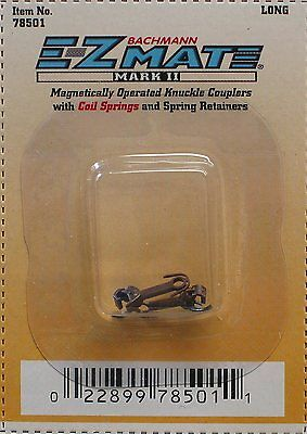 BACHMANN N SCALE EZ MATE MAGNETICALLY OPERATED KNUCKLE COUPLERS BAC 78501 LONG