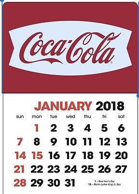 NEW 2018 white fishtail  Coke dash calendar