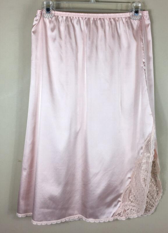 Vintage VANITY FAIR  Small bubblegum pink half slip with  lace