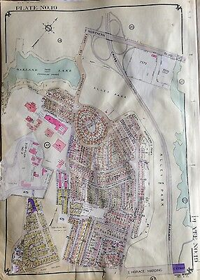 ORIGINAL 1953 BELCHER HYDE MAP LITTLE NECK BAYSIDE ALLEY POND PARK  QUEENS NY