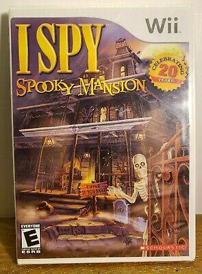 Wii , I Spy Spooky Mansion , Brand New , Sealed .