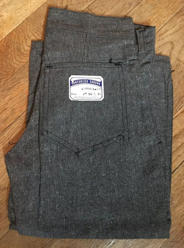 Vintage 1940s Chambray Boys Pants Denim Jeans Deadstock NOS