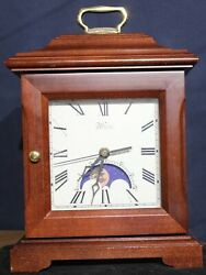 VINTAGE MANTEL CLOCK GERMAN QUARTZ MOVEMENT WITH MOON PHASE  JEWELRY BOX