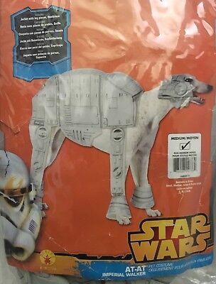 STAR WARS Imperial Walker Dog Costume Size Medium Rubie's #885577 New - Dog Imperial Walker Costume