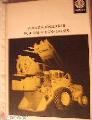 ✪Original Bagger/BAU Prospekt Sales brochures Volvo BM lader Standardgeräte