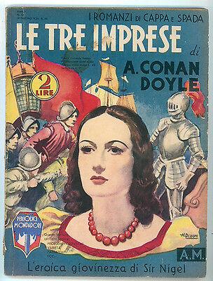 CONAN DOYLE ARTHUR LE TRE IMPRESE MONDADORI 1934 I ROMANZI DI CAPPA E SPADA 17