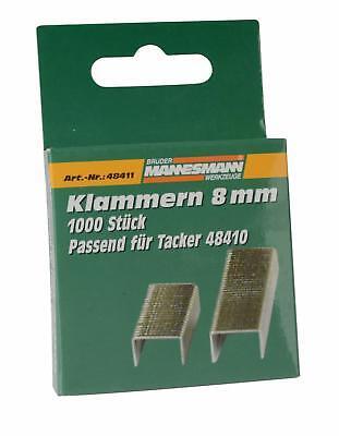 2x 1000 = 2000x Tacker Klammern Typ 53 11,3 x 06mm für z.b Bosch Rapid Novu 786