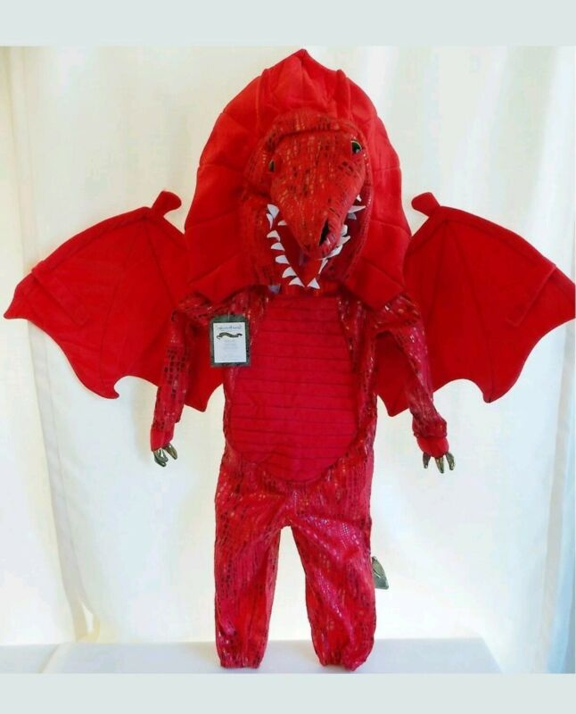 7 8 New Pottery Barn Kids RED DRAGON Halloween COSTUME  GOT mail today