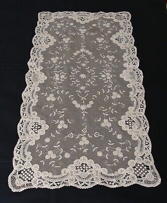 Antique  applique lace jacket shrug bridal Victorian hand lace wedding 1800/'s floral sprays and sprigs