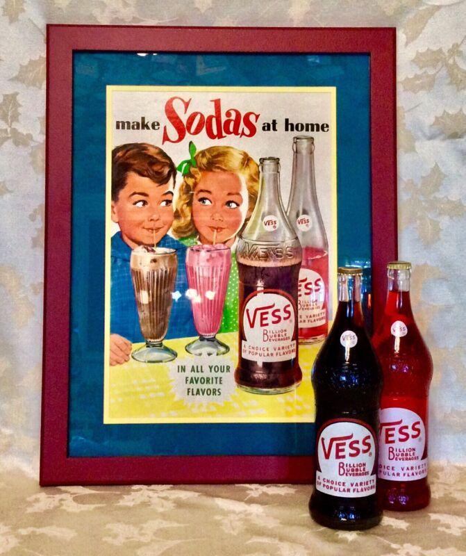 VINTAGE VESS SODA ADVERTISING POSTER
