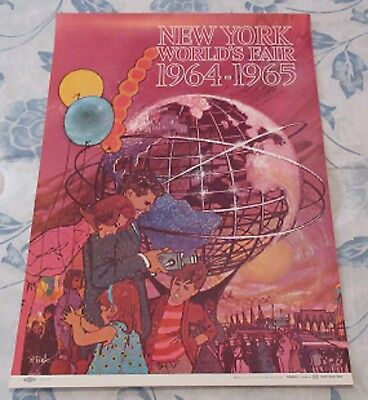 "Vintage 1964 NYWF Original 11"" X 16"" Promotional Poster No. 1"