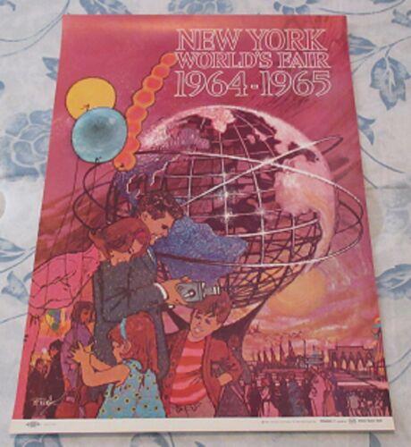 "Vintage 1964 NYWF Original 11"" X 16"" Promotional Poster No. 1"