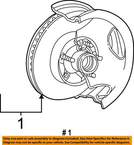 Ford Oem 98 09 Ranger Front Brake Disc Rotor Yl5z1v102g