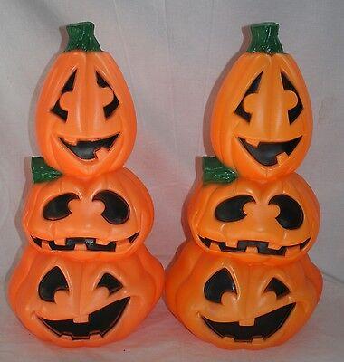 Pumpkin Blow Mold Plastic Decorations General Foam 2pcs Halloween Jack O Lantern