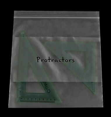 10 X 10 Clear Reclosable Large Plastic Poly Bags With White Block 2mil 500 Pcs