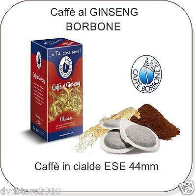 36 Cialde Caffe al Ginseng in Carta Caffè Borbone ESE 44 mm ese44 Filtrocarta