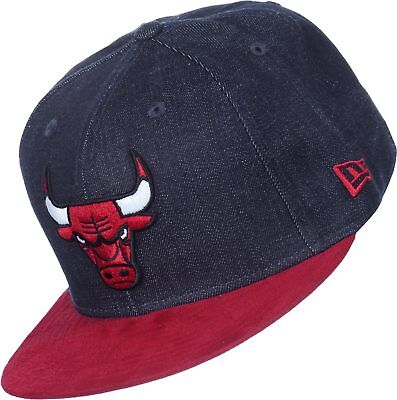 A34 NEW ERA OFFICIAL NBA CHICAGO BULLS Denim Suede Baseball Cap * 7 1/8 (56.8cm)