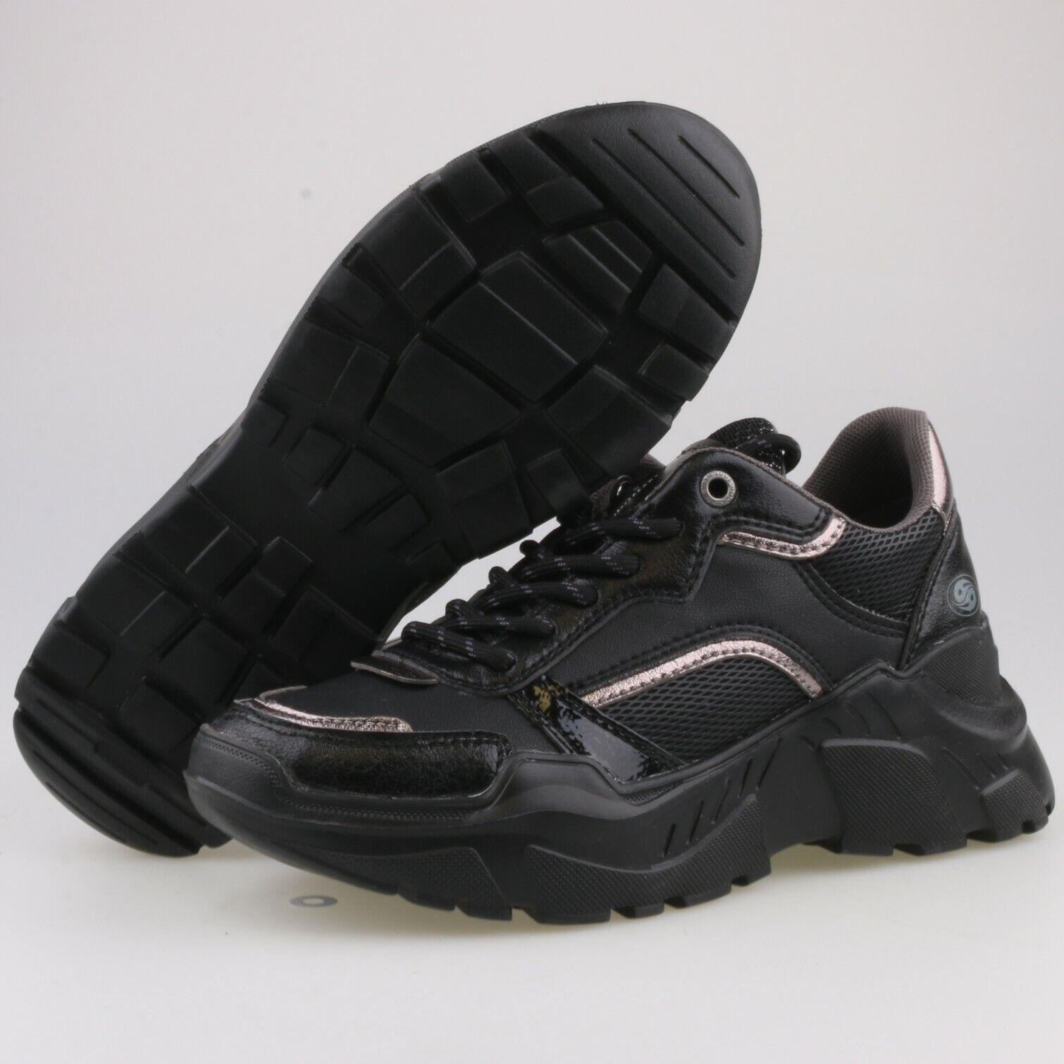 4087-NEU DOCKERS Damenschuhe Gr 36 Schuhe Halbschuhe Sneaker Plateau Schnürer