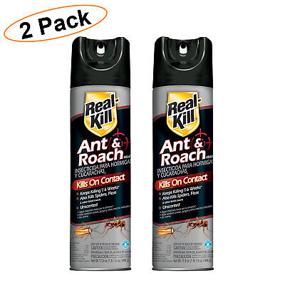 ANT AND ROACH KILLER 17.5 Oz Aerosol Spray Indoor Insect Pest Control 2 PACK