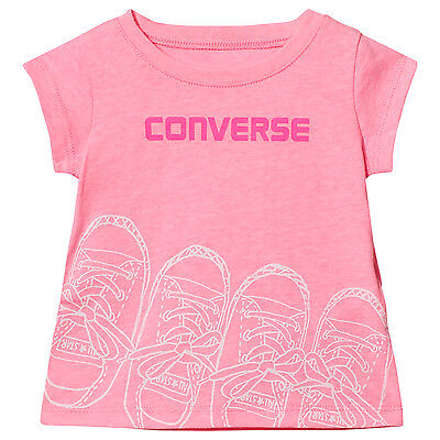 Designer CONVERSE Baby Girls Summer t-Shirt PinkNEW SEASON'S STOCK SALE SALE ()