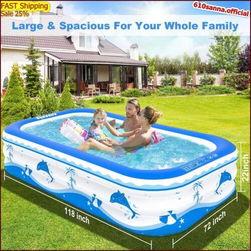 "picsinas piscinas para ninos niños adultos adulto piscina inflables 118 x72 x22"""