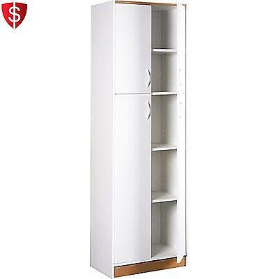 Kitchen Pantry Storage Cabinet 5 Shelves Organizer Shelf Utility Food 4 Doors