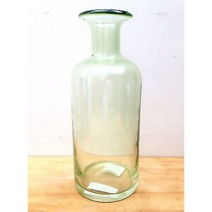 AS NEW Large Light Green Glass Bottle Vase RRP $40. Exc Cond North Melbourne Melbourne City Preview