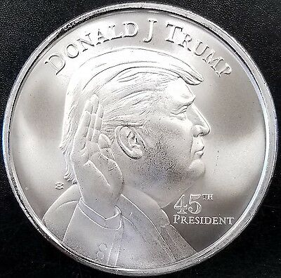 Donald J  Trump  45Th President  One Troy Ounce  999 Fine Silver Round  In Stock
