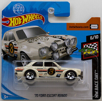 Hot Wheels 70 Ford Escort RS1600 White FYD23 HW Race Day 2019