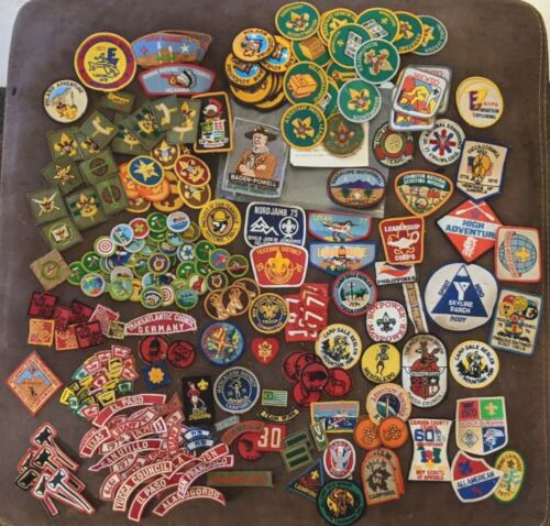 250+ Vintage Boy Scout Estate Collectible Lot Eagle, OOTA, Merit Badges, Patches