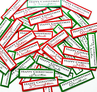 30+ FAMILY CHRISTMAS Sentiments/Banners PRINTED Hand Made Card Toppers (X30REL)