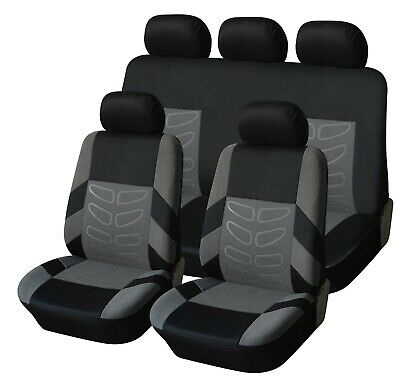 Sitzbezüge Sitzbezug Schonbezüge für Alfa Romeo 156 Schwarz Modern MC-1 Set