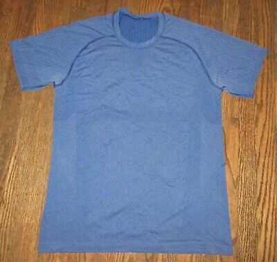 Lululemon Running Fitness Shirt Blue Men's Medium