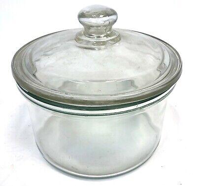 Pyrex Heavy Glass 10 Diameter Medical Scientific Lab Laboratory Desiccator Jar