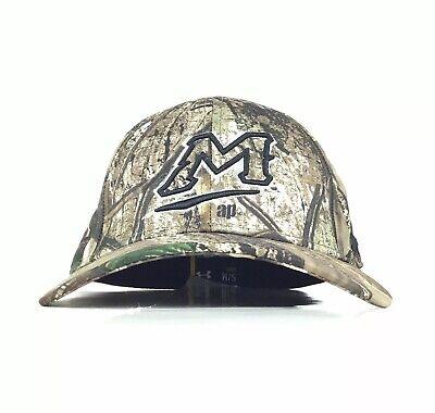 Menlo College M Logo Camo Baseball Cap Hat Flex Fit Men's S/M Under Armour