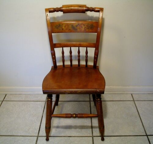 RARE L. Hitchcock Chair Co harvest Stenciled Side Chairs hitchcocks-ville Conn.