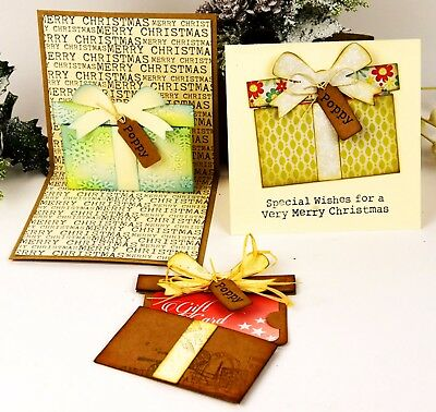 Sizzix Thinlits Gift Card Package 6pk #662417 MSRP $29.99 designer Tim Holtz