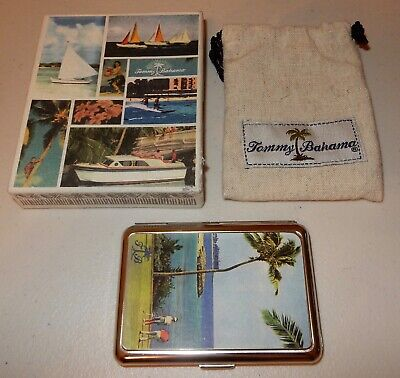 Tommy Bahama Golf Golfing Business Card Holder With Box