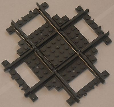 Custom Lego City 90 Deg Cross   Crossover Track  Grey  Power Function   Rc Train