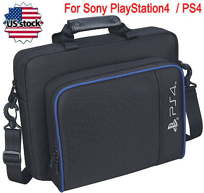 Black Multifunctional Travel Carry Case Handbag For Sony PlayStation4 PS4 Bag US
