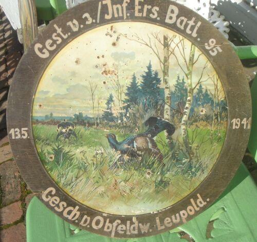 World War 2 German Army Shooting Target Scheutzen Ehrenscheibe Chromolithograph