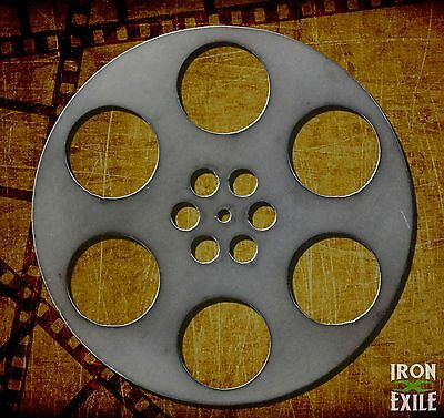 Movie Reel Metal Wall Art Decor Vintage Theater Room Sign Vacation Home Cabin