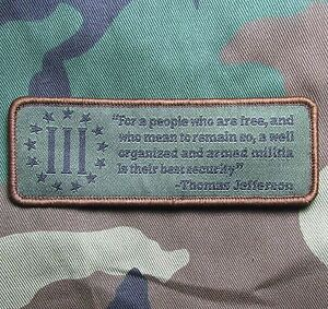 WELL ARMED MILITIA 2A TACTICAL USA ARMY MILITARY MORALE FOREST VELCRO PATCH