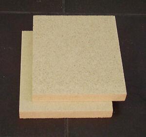 Vermiculite Fire Bricks Made to Measure 2 bricks 27cm x 20cm x 2.5cm thick