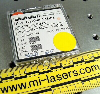 Ndyvo4 Crystal 2 X 3 X 0.7mm 1 For Diode Pumped Solid State Dpss Laser