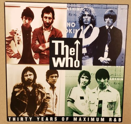 The Who Thirty Years of Maximum R&B 1994 DOUBLE-SIDED CARDBOARD POSTER FLAT